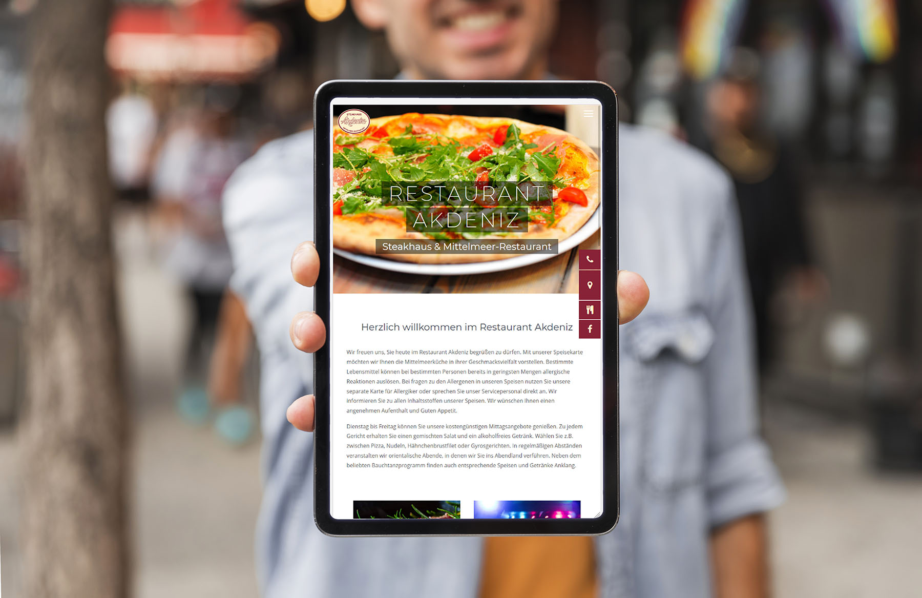 website restaurant